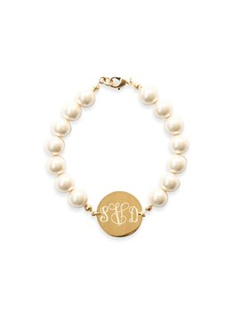 Pearl Monogram Bracelet by Kiel James Patrick