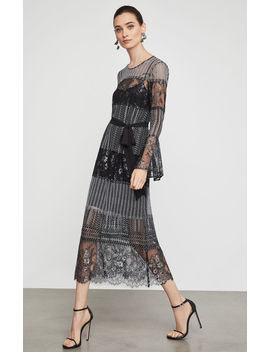 Metallic Lace Midi Dress by Bcbgmaxazria