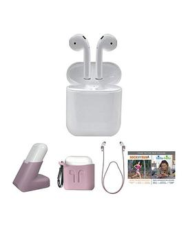 Apple Airpods Truly Wireless Earphones With Charging Case And Stand by Apple