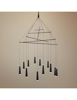 "George Kovacs Ganbare 29 1/2""W Black Led 12 Light Pendant by Lamps Plus"