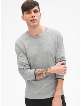 Long Sleeve Double Face Crewneck T Shirt by Gap