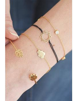 Cute Sun Cloud Leaf Bracelet Set by Lupsona