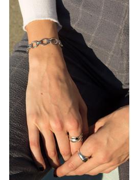 Silver Chain Bracelet by Brandy Melville