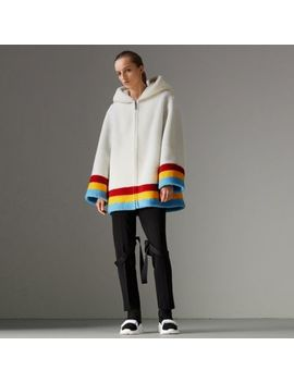 Faux Shearling Oversized Hooded Jacket by Burberry