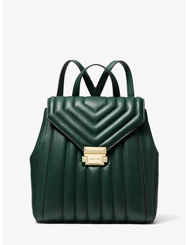 Whitney Quilted Leather Backpack by Michael Michael Kors