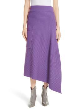 Ribbed Merino Wool Asymmetrical Skirt by Tibi
