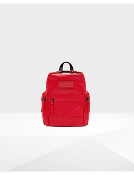 """<Span Itemprop=""""Name"""">Original Mini Top Clip Backpack   Rubberized Leather</Span>:                     <Span>Military Red</Span> by Hunter"""