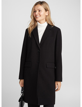 Tailored Collar Two Button Overcoat by Contemporaine