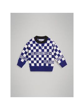 Chequer Jacquard Merino Wool Sweater by Burberry