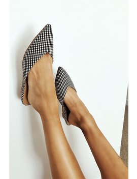 Gingham Wedge Mules by Sabo Skirt