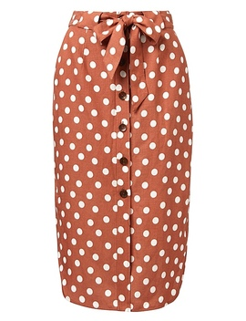 Soft Button Skirt by Witchery