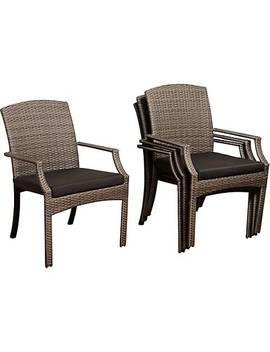 Point Loma Gray Wicker 4 Piece Outdoor Armchair Set by Lamps Plus