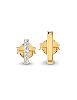 Gold Long And Short Pave Bar Set by Missoma