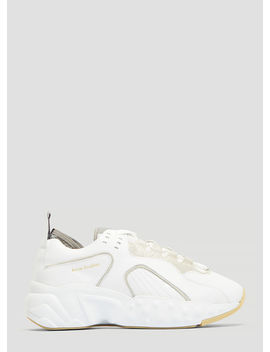 Technical Leather Sneakers In White by Acne Studios