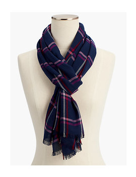 Plaid Herringbone Scarf by Talbots
