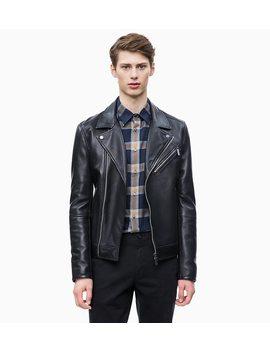 Leather Biker Jacket by Calvin Klein