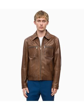 Nappa Leather Jacket by Calvin Klein