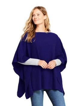 Women's Cashmere Ruffle Sweater Poncho by Lands' End