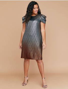 Metallic Speckled Sheath Dress by Lane Bryant
