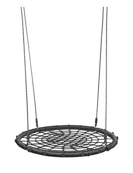"Black 24"" Round Web Swing & Spin Set by Zulily"