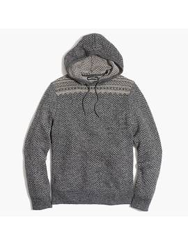 Fair Isle Hoodie In Supersoft Wool Blend by J.Crew