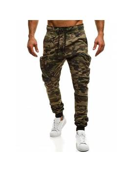 "<P>Camouflage Zipper Pockets Cargo Jogger Pants</P><I Class=""Icon Down Js Tap Up Down""></I> by Dress Lily"