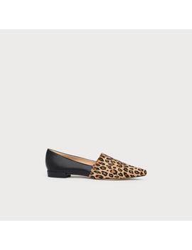Vienetta Leopard Print Calf Hair Suede Flats by L.K.Bennett