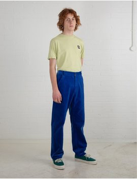 Lazy Oaf Electric Blue Cord Trousers by Lazy Oaf