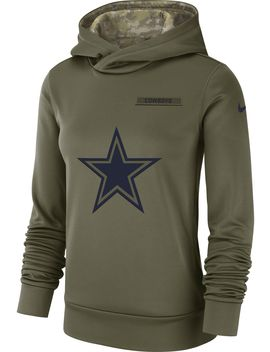 Nike Women's Salute To Service Dallas Cowboys Therma Fit Performance Hoodie by Nike