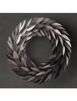 Laurel Leaf Wreath   Antiqued Silver by Restoration Hardware