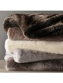 Luxe Faux Fur Throw by Restoration Hardware