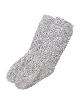 Kids Mini Waffle Knit Reading Socks™ Grey 5 8 Years by Indigo