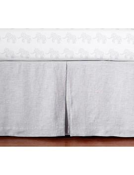 Linen Crib Skirt, Gray by Pottery Barn Kids