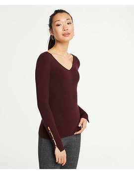Pearlized Cuff Sweater by Ann Taylor