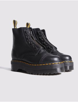 Dr Martens Sinclair Flatform Zip Leather Boots In Black by Lazy Oaf