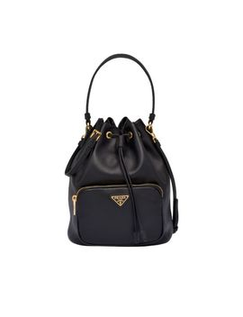Leather Bucket Bag by Prada