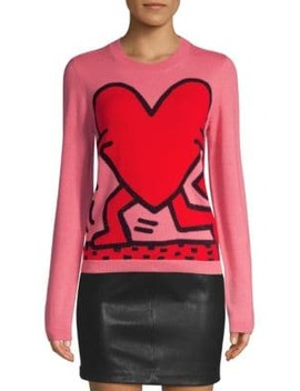 Keith Haring X Alice + Olivia Connie Intarsia Knit by Alice + Olivia