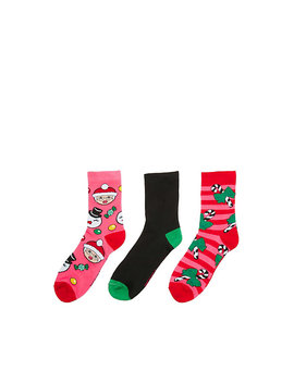Mrs Claus Holiday Crew 3 Pack by Betsey Johnson