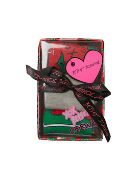 Hollyberry Crew 3 Pack Gift Box by Betsey Johnson