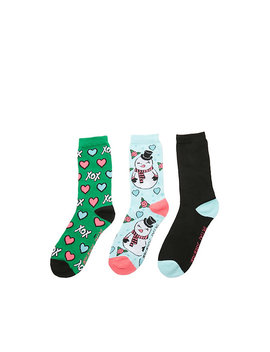 Kiss Please Holiday Crew 3 Pack by Betsey Johnson