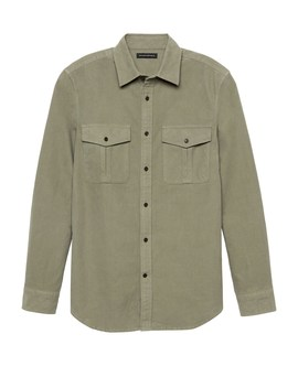 Heritage New Slim Fit Moleskin Shirt Jacket by Banana Repbulic