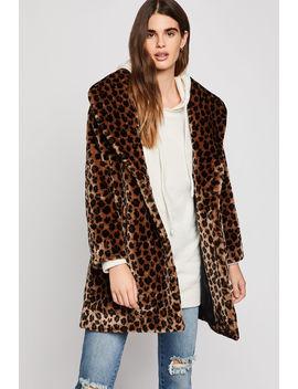 Leopard Print Faux Fur Coat by Bcbgeneration