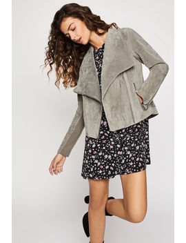 Wide Lapel Suede Jacket by Bcbgeneration