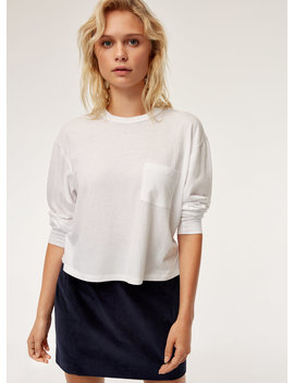 Lisbeth T Shirt   Long Sleeve T Shirt With Pocket by Sunday Best