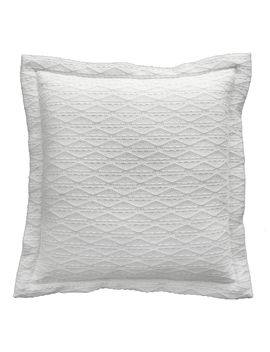Camdon White Double Flange Pillow 20 In. by At Home