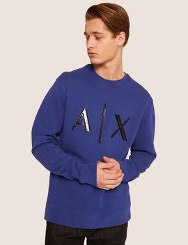 High Shine Embossed Logo Sweatshirt by Armani Exchange