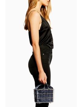 Mona Metal Basket Grab Bag by Topshop