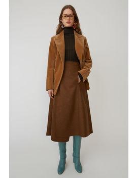 A Line Wrap Skirt Caramel Brown by Acne Studios
