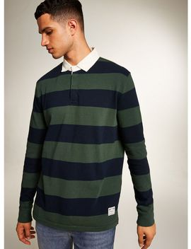 Levi's Green And Blue Rugby Polo by Topman
