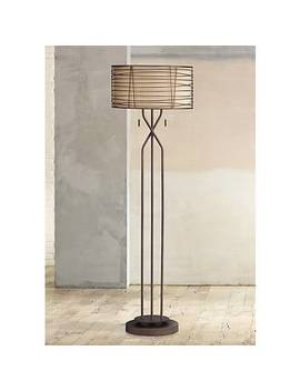 Marlowe Woven Bronze Metal Floor Lamp by Lamps Plus